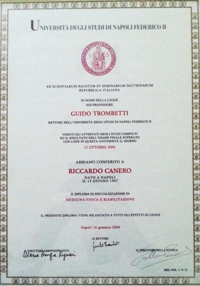 diploma di specializzazione